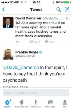 Gotta love Frankie Boyle Frankie Boyle, The Future Of Us, David Cameron, Psychopath, Greed, Enough Is Enough, Comedians, Politics, Jokes