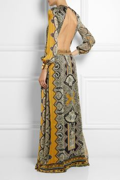 Etro|Embellished paisley-print silk-jacquard gown|NET-A-PORTER.COM