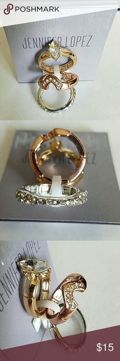 Selling this NWT 3 stretchy rings with bling on Poshmark! My username is: cheryl1270. #shopmycloset #poshmark #fashion #shopping #style #forsale #Jennifer Lopez #Jewelry