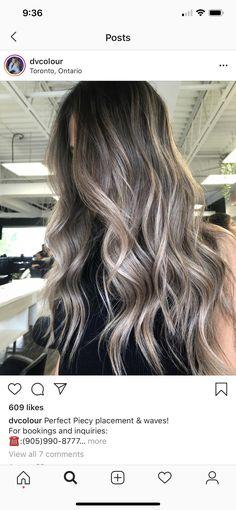 Hair Inspo, Hair Inspiration, Gray Balayage, Light Hair, Ash Grey, Hair Painting, Cool Tones, Hair Looks, Heavenly