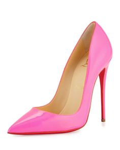 So Kate Patent 120mm Red Sole Pump, Shocking Pink by Christian Louboutin at Bergdorf Goodman. $675