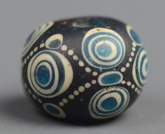 Perfect tiny Warring States Glass Bead from Early China (another view)
