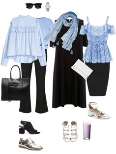 Ensemble: Summer Light Blue & Black - YLF