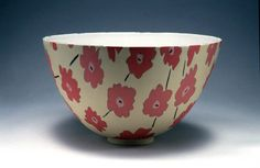 Susan Nemeth Inlaid porcelain using colored clays and slips, press molded.