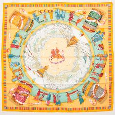 Used Hermes Scarf In Yellow A - Beyond the Rack