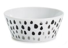 Darling Clementine Pickles Raindrops Porcelain Bowl