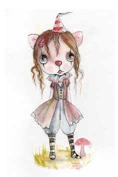 original gouache painting...mixed media for by ppinkydollsart, $90.00