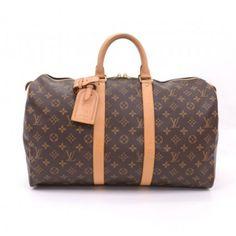 Louis Vuitton Keepall 45 Duffle Brown Monogram Canvas Travel Bag