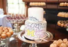 A School Spirit Wedding Cake | A Girl in Love | blog.theknot.com