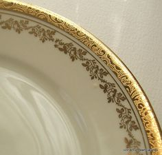 Vintage Gold and White Bavarian Decorative by LionheartGalleries