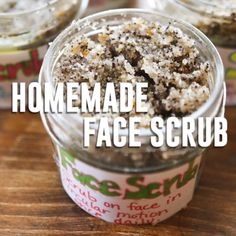 Homemade Face Scrub with Coconut Oil and Coffee Make your own face scrub at home in minutes! This is the perfect any-occasion gift! It exfoliates, moisturizes, protects against aging and smells amazing. You will love this stuff! Homemade Exfoliating Face Scrub, Sugar Scrub Homemade, Homemade Skin Care, Diy Skin Care, Homemade Facials, Homemade Scrub For Face, Homemade Body Scrubs, Homemade Face Exfoliator, Coconut Body Scrubs