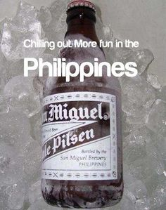 I drank many of these when I was there ha ha! Philippines Tourism, Philippines Culture, San Miguel Beer, Tourism Department, Cold Ice, More Fun, Chilling, Studio Design, Pinoy