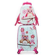 Animal-Wild-World-Cartoon-Children-Suitcase-Travel-Bag-Kids-Rolling-Luggage-Set