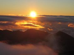 Beautiful way to start your day.  View of the sunrise from atop Haleakala.  Maui, Hawaii.
