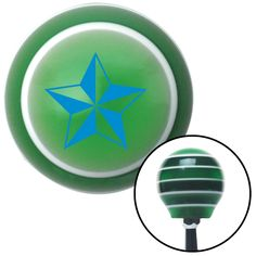 Blue Tattoo Star Wide Green Stripe Shift Knob with M16 x 15 Insert - Give your interior the ultimate look. American Shifter's Elite(TM) series shift knobs are made from the highest quality components resulting in a superior feel on every shift. Each shift knob is designed and customized in the USA by skilled shift knob artisans who have a trained eye on every detail. American Shifters shift knobs offers an exclusive aluminum threaded insert designed to be screwed onto your shift arm. You…