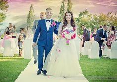 Wedding perfect bride pink blue