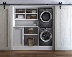"""Electrolux Stacked Washer & Dryer Set with Front Load Washer and Gas Dryer in Titanium Check out our website for more relevant information on """"laundry room stackable ideas"""". Small Laundry Rooms, Laundry Room Organization, Laundry Room Design, Laundry Storage, Laundry Closet, Laundry Drying, Basement Laundry, Laundry Area, Design Kitchen"""