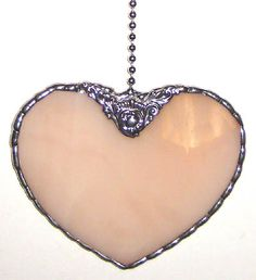 Heart pull chain for ceiling fan - Oooo, with a piece of porcelain...