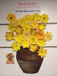 Elementary Art Project, Vincent Van Gogh, Painting, Kindergarten, Display