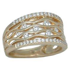 0.50 cttw. Diamond Ring https://www.goldinart.com/shop/diamond-rings/0-50-cttw-diamond-ring-2-2 #CocktailRings, #DiamondRings, #YellowGold