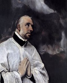 El Greco - Christ on the Cross Adored by Two Donors (detail)