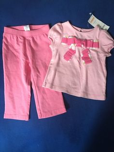 NWT Gymboree 12-18 Months Girl's Two Piece Pretty In Pink Outfit Set  #Gymboree