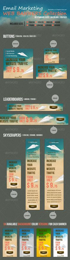 Email Marketing Web Banners Collection
