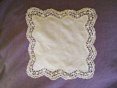 Handmade Antique Cotton Lace Wedding Hanky by FromParisToProvence, €25.50