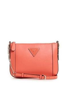 Kamryn Triangle Logo Mini Crossbody at Guess Guess Girl, Triangle Logo, Guess Handbags, Mini, Fashion Trends, Accessories, Women, Outfit, Summer