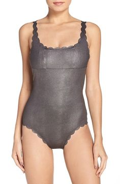 Free shipping and returns on PilyQ Reversible One-Piece Swimsuit at Nordstrom.com. Two swimsuits in one with this reversible design that's flattering and comfortable with seamless scalloped edges and ruched center seam.