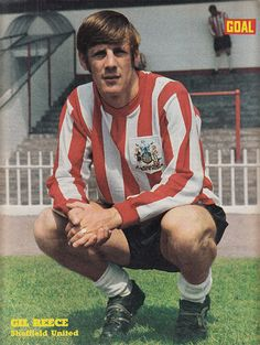 July Sheffield United and Wales winger Gil Reece, at Bramhall Lane. Best Football Team, Football Kits, Football Jerseys, Bramall Lane, Sheffield United, Wales, Terrace, Red And White, The Past