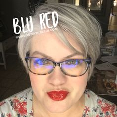 Blu Red LipSense by SeneGence is a cool color. You can view it on people, look at combos or comparisons or even in a collage.  However, nothing rivals seeing it on a real person.  Click to purchase yours NOW!  #lipsense #senegence