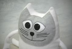 This lovingly hand-embroidered mascot kitten can become your child's favorite friend.  It's very friendly, and it's a wonderful addition to a child's room.