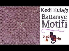Kedi Kulağı Battaniye Motifi - YouTube