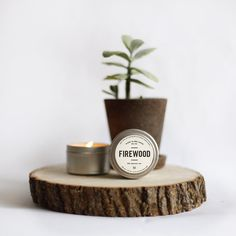 100% Soy Essential Oil Infused Firewood Man Candle
