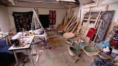 Ann Carrington and her studio.