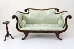 Regency sofa & side table - David Booth