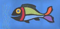 Leech Lake Fish, painting