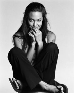Angelina - not usually a fan, but this is a cute pic :)  like when she was in High Fidelity