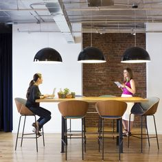 Lipse Barstools from Davis Furniture in the Dropbox New York offices - designed by STUDIOS