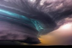 "Top 10 Weather Photographs: 7/21/2015 ""Intense South Dakota Supercell Lights Up…"