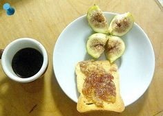 #fig #bread and #coffee #country #breakfast #fruit