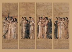 Communion of the Saints tapestries at the Cathedral of Our Lady of the Angels, Los Angeles