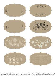 étiquettes beige vintage                                                                                                                                                     Plus