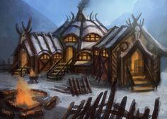 Barbarian Longhouse by ~e-mendoza on deviantART