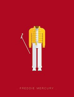 Brazilian illustrator Frederico Birchal created this really cool project to bring back some of the most epic musicians and their favorite costumes to walk on stage. From Beatles to Daft Punk and everything in between. Check it out!