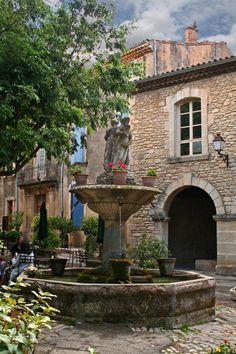 Saignon Fountain in Provence--my favorite perched village in Provence......