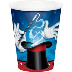 The Magic Party Hot/Cold Cups will serve your hot or cold beverages in style. Perfect for any magic theme party, cups are printed with a magician's hat, gloves, wand, and playing cards. Partycheap has your magic party supplies for less! Magic Theme, Magic Party, Party Cups, Art Party, Plastic Dinnerware, Disposable Cups, Disposable Tableware, Under The Sea Theme, Party Activities