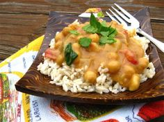 Easy Garbanzo Curry Serve with rice and salad and maybe pita for sandwiches.