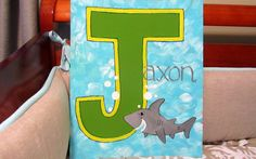 #Jaxon #Shark #Nautical #Nursery #Painting  NaptimeDesignsJD@gmail.com